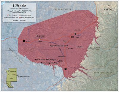 Walla Walla Valley Vineyard Map