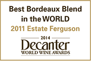 Best Bordeaux Blend in the World 2011 Estate Ferguson Decanter Wine Awards logo