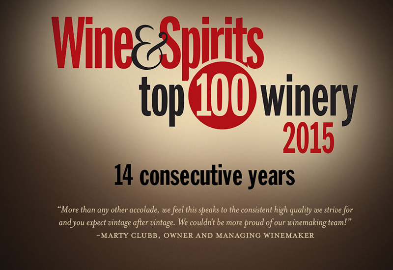 L'Ecole Named Wine & Spirits Top 100 Winery of the Year!