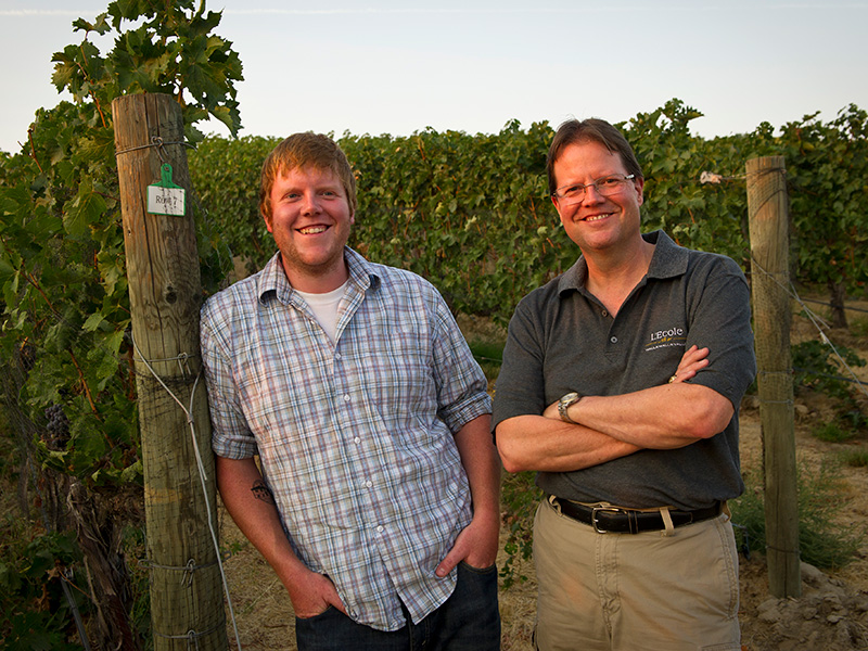 Marty & Riley at our Estate Seven Hills Vineyard