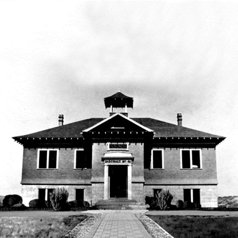 Historic photo of schoolhouse