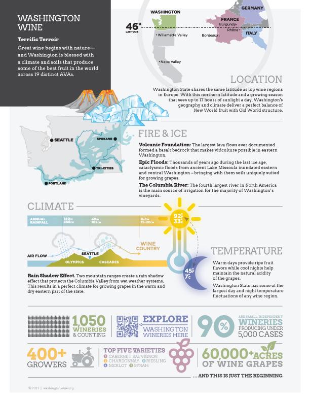 Washington State 19 AVA Terroir Infographic