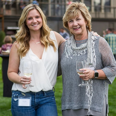 Megan Clubb with daughter Rebecca Olson