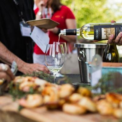 L'Ecole Semillon, the perfect pairing with grilled prawns