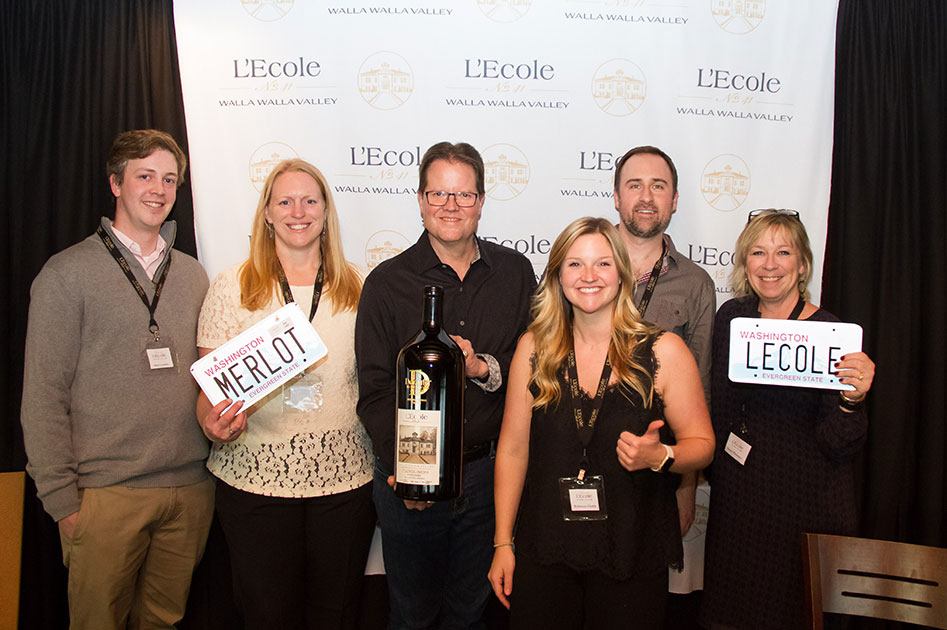 L'Ecole Wine Club team at Portland City Grill, Portland OR