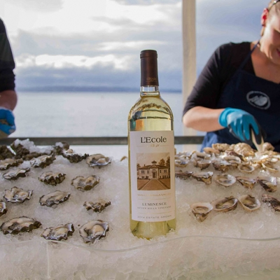 Estate Luminesce perfectly paired with Puget Sound oysters