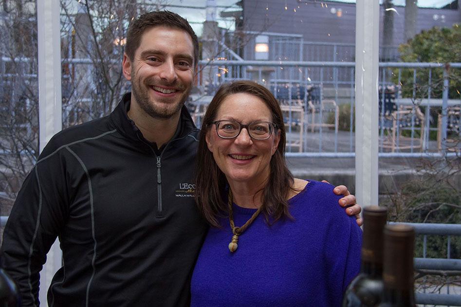 Former L'Ecole GM Debbie Frol with son Garrett, Seattle WA