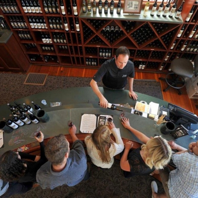 Tasting bar at the winery