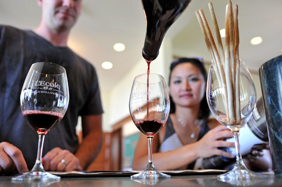 Beautiful Merlot, a signature wine from L'Ecole
