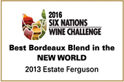 Best Bordeaux Blend in the World 2013 Estate Ferguson 2016 Six Nations Wine Challenge logo