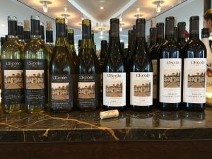 L'Ecole wine tastings
