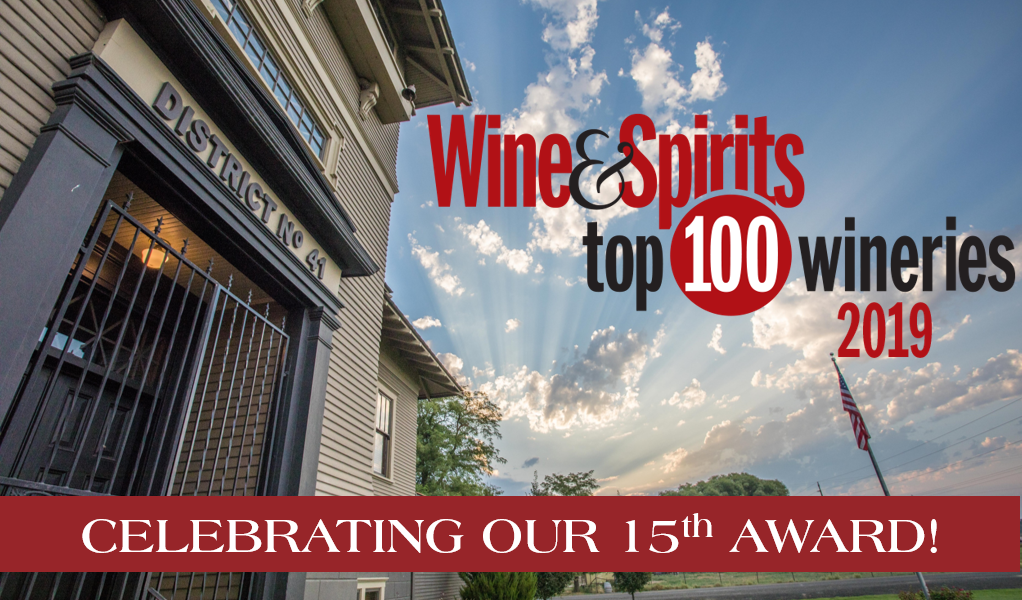 Wine & Spirits Top 100 Wineries 2019 Award